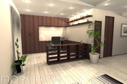 本棚+TV収納棚