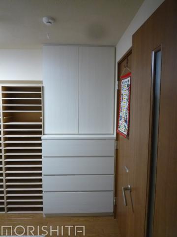 衣類収納+本棚