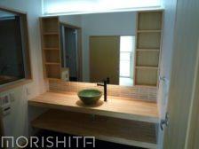 洗面カウンター+吊戸棚